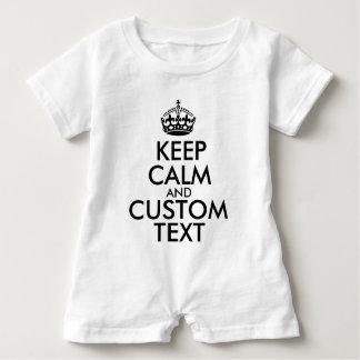 Macacão Para Bebê Mantenha a calma e criar seus próprios fazem para