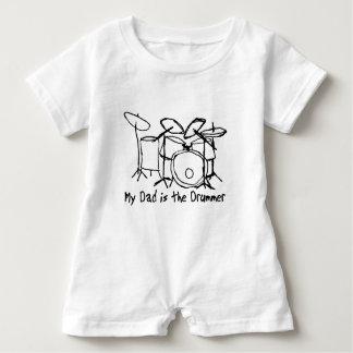 Macacão Para Bebê Meu pai é o baterista