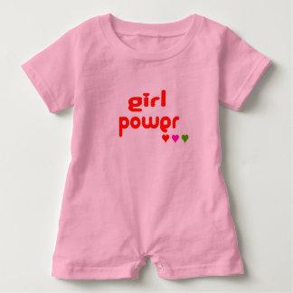Macacão Para Bebê Mini mim poder retro da menina