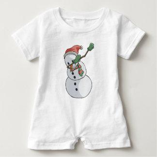 Macacão Para Bebê Natal engraçado de toque ligeiro do t-shirt do