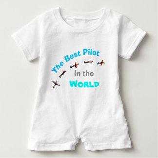 Macacão Para Bebê O melhor piloto no mundo