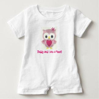 Macacão Para Bebê O pai e eu somos um Romper personalizado buzina da