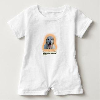 Macacão Para Bebê Os cães são melhores do que seres humanos
