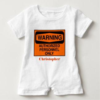 Macacão Para Bebê Os pessoais autorizados engraçados assinam somente