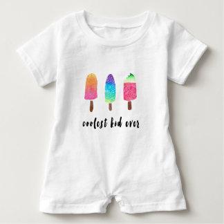 Macacão Para Bebê Os Popsicles sempre coloridos os mais frescos da