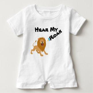 Macacão Para Bebê Ouça meu rugido, Romper do bebê