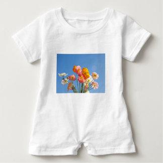 Macacão Para Bebê Papoilas