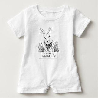 Macacão Para Bebê PÉROLA de GINNY PARA o coelho branco do BEBÊ com