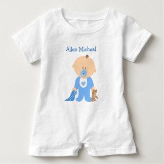 Macacão Para Bebê Personalize este Romper azul do bebé