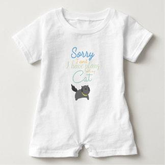 Macacão Para Bebê Pesaroso eu chanfro-me fiz planos com meu gato