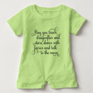 Macacão Para Bebê Pode você dançar com bênção irlandesa das fadas