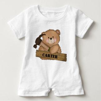 Macacão Para Bebê Presentes personalizados urso do construtor de
