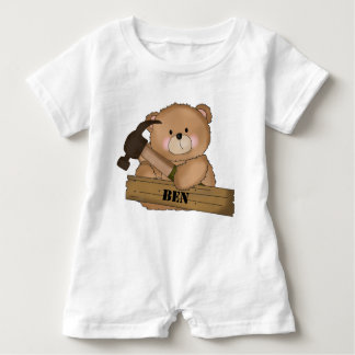 Macacão Para Bebê Presentes personalizados urso do construtor de Ben