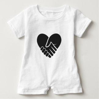 Macacão Para Bebê Preto conectado amor