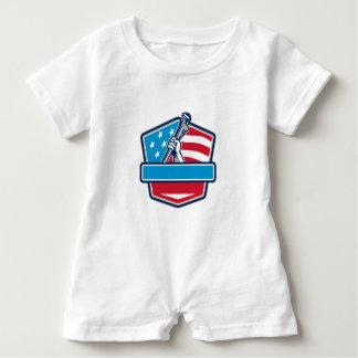 Macacão Para Bebê Protetor da bandeira dos EUA da chave de tubulação