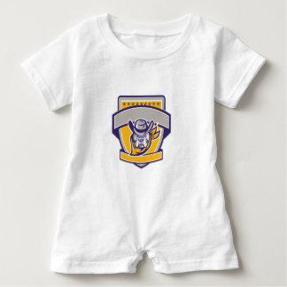 Macacão Para Bebê Protetor da cabeça do vaqueiro do xerife do
