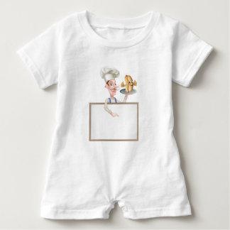 Macacão Para Bebê Quadro indicador do cozinheiro chefe dos desenhos