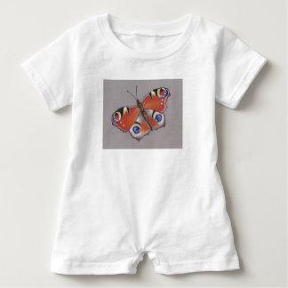 Macacão Para Bebê ROM-pa do bebê com design da borboleta de pavão