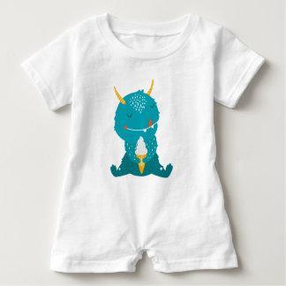 Macacão Para Bebê Romper de Cutie do monstro do sorvete
