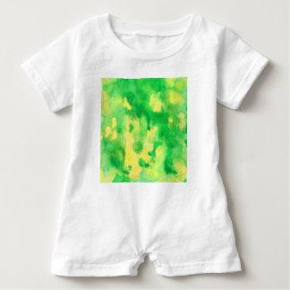 Macacão Para Bebê Romper do bebê da aguarela do verde amarelo