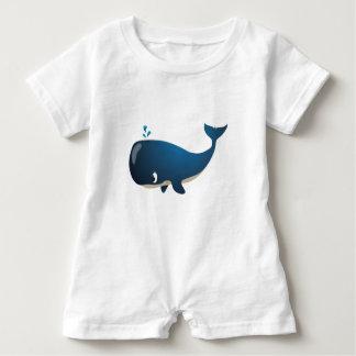 """Macacão Para Bebê """"Romper do caráter da baleia do selo pequeno do"""