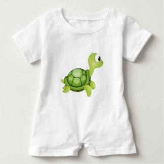 """Macacão Para Bebê """"Romper do caráter da tartaruga do selo pequeno do"""