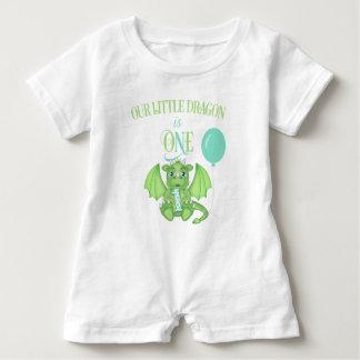 Macacão Para Bebê Romper do primeiro aniversario do dragão