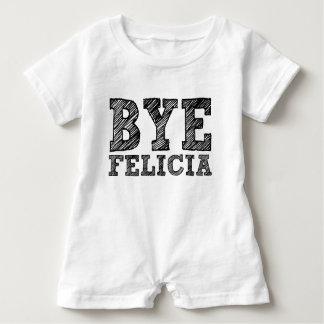 Macacão Para Bebê Romper engraçado do bebê de Felicia do adeus