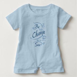 Macacão Para Bebê Seja a mudança que você quer ver