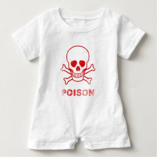 Macacão Para Bebê Selo vermelho da tinta do veneno