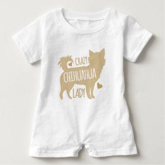 Macacão Para Bebê senhora louca da chihuahua
