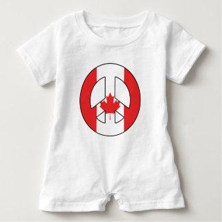 Macacão Para Bebê Sinal de paz canadense
