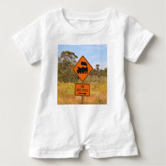 Macacão Para Bebê Sinal locomotivo do motor do trem, Austrália