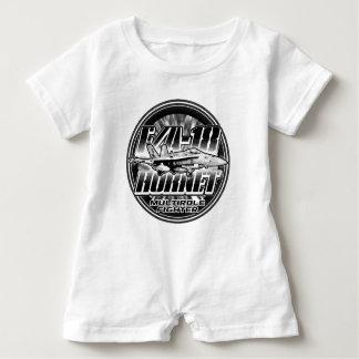 Macacão Para Bebê T-shirt do Romper do bebê do zangão F/A-18
