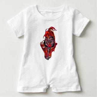 Macacão Para Bebê Tigre vermelho