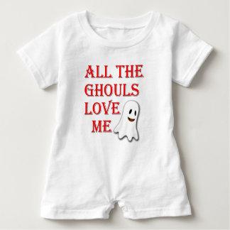 Macacão Para Bebê Todos os Ghouls me amam Romper vermelho do bebê do
