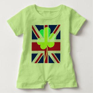 Macacão Para Bebê Trevo britânico irlandês St Patrick Reino Unido do