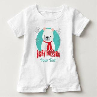 Macacão Para Bebê Urso Huggable do Natal do inverno de Beary