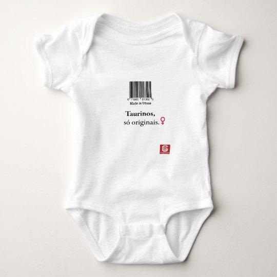"Macacão para bebês: taurinos ""Made in Vênus"" Body Para Bebê"