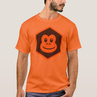 Macaco alaranjado camiseta
