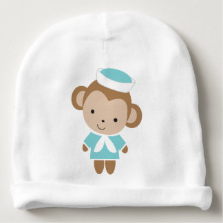Macaco animal do marinheiro do bebê bonito gorro para bebê