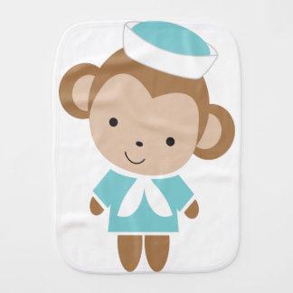 Macaco animal do marinheiro do bebê bonito paninho para bebês