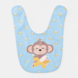 Macaco bonito de Kawaii com o babador do bebê da