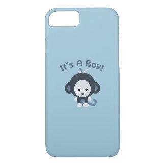 Macaco bonito - é um menino! capa iPhone 7