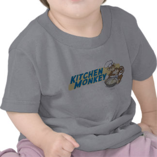 Macaco da cozinha - bebê camisetas