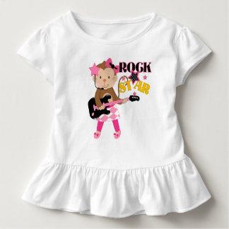 Macaco da estrela do rock com guitarra tshirt