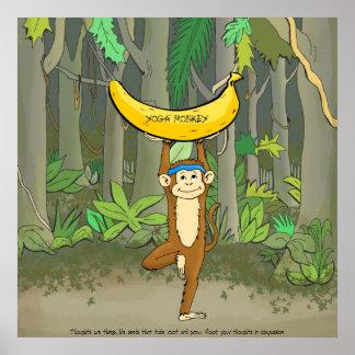 Macaco da ioga pôster