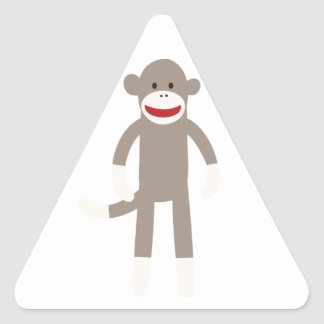 Macaco da peúga adesivo em forma de triângulo