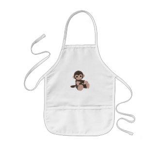 Macaco de Brown Avental Infantil