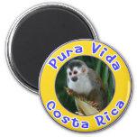 Macaco de esquilo, Pura Vida, Costa Rica Imãs